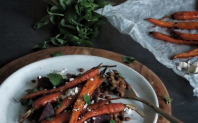 Recipe – Salad with Roasted Carrots, Lentils and Feta from Laura // mylittlehongkongkitchen